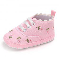 Embroidered Baby Shoes Soft Cotton Cloth Sole -