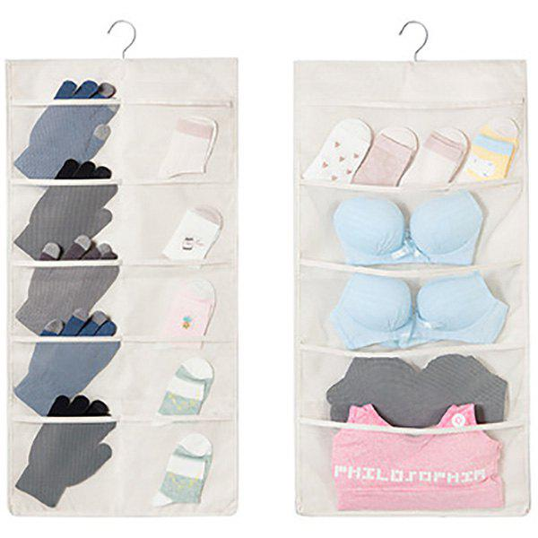 Fancy Double-sided Multigrid Underwear Storage Hanging Bag
