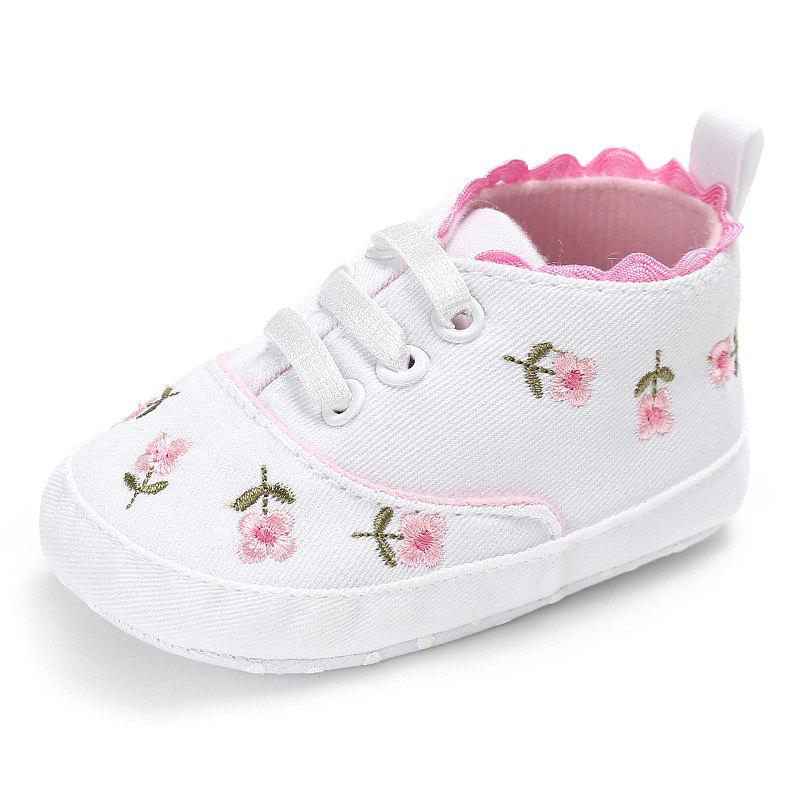 Discount Embroidered Baby Shoes Soft Cotton Cloth Sole