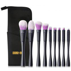 MAANGE MAG5774 Makeup Brushes Set Premium Synthetic Foundation Blending Face Powder Concealers Eye Shadows Make Up Tools 9pcs -