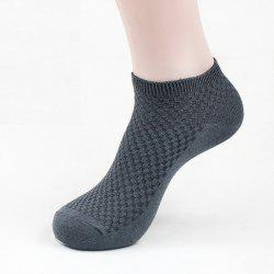 Men's Summer Bamboo Fiber Short Sock Business Socks Anti-Bacterial Deodorant Breathable Sock -