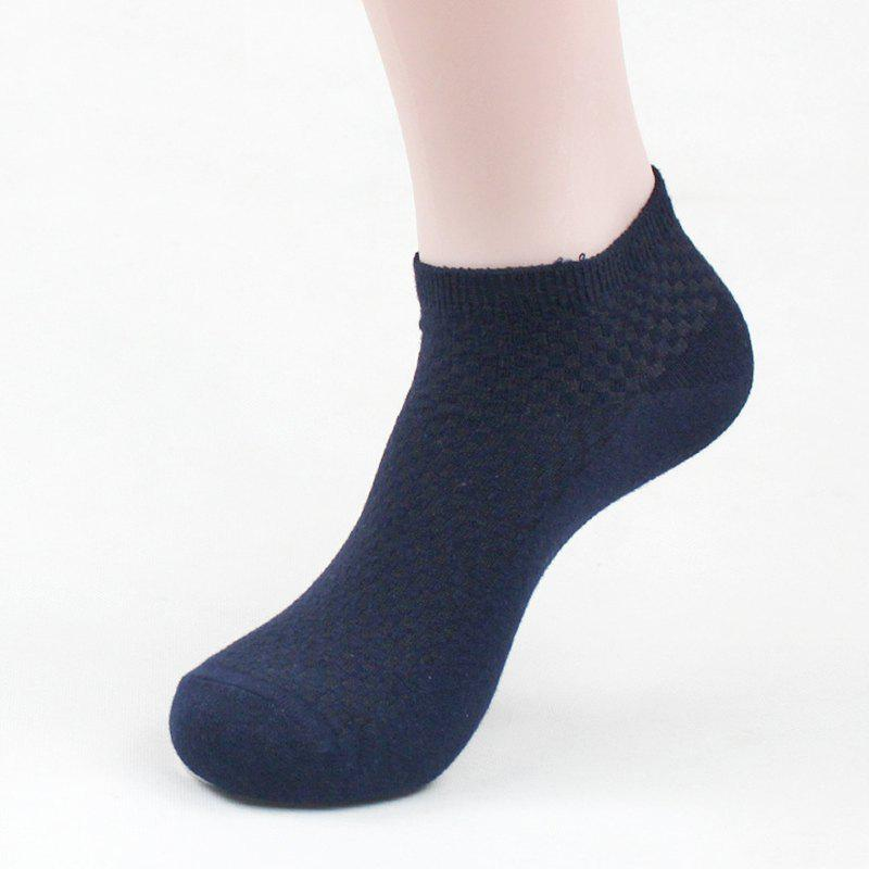 Unique Men's Summer Bamboo Fiber Short Sock Business Socks Anti-Bacterial Deodorant Breathable Sock