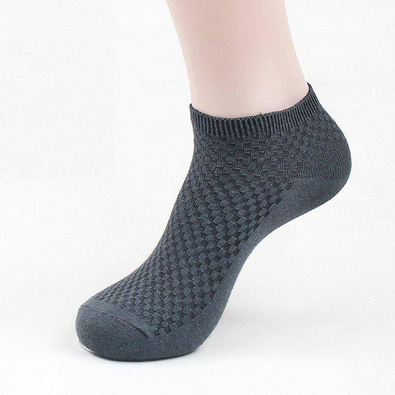 Sale Men's Summer Bamboo Fiber Short Sock Business Socks Anti-Bacterial Deodorant Breathable Sock