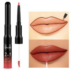 DNM ML0031 2 in 1 Lip Gloss Liner Matte Double Head Lipstick -