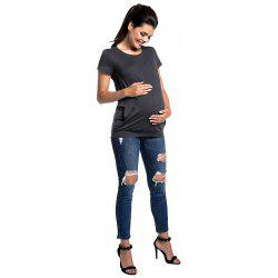 Maternity Round Neck T-shirt -