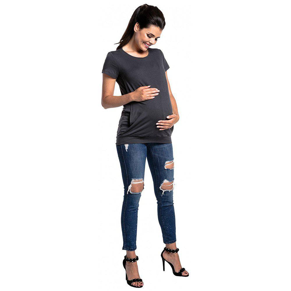 Outfit Maternity Round Neck T-shirt
