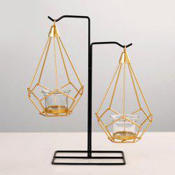 Geometric Wrought Home Candle Holder Decoration -