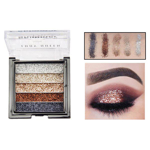 Fashion ME0061 5 Color Beauty Waterproof Long-lasting Natural Glitter Stage Makeup Eye Shadow Tray