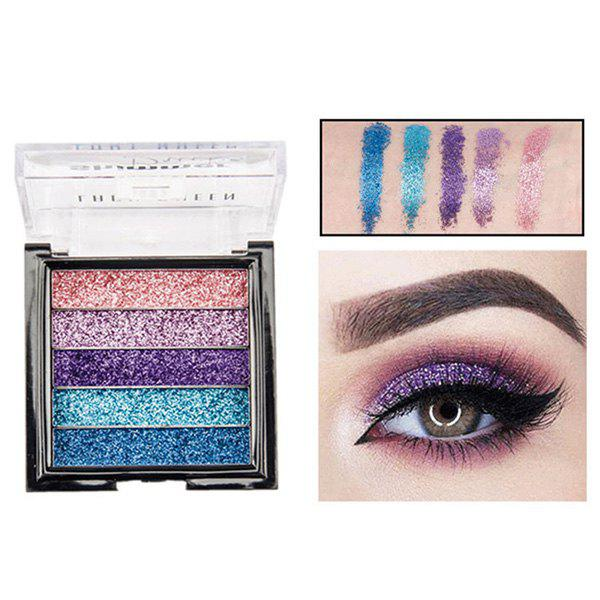 Fancy ME0061 5 Color Beauty Waterproof Long-lasting Natural Glitter Stage Makeup Eye Shadow Tray