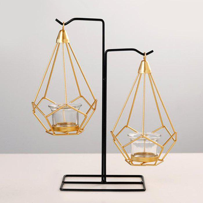 Sale Geometric Wrought Home Candle Holder Decoration