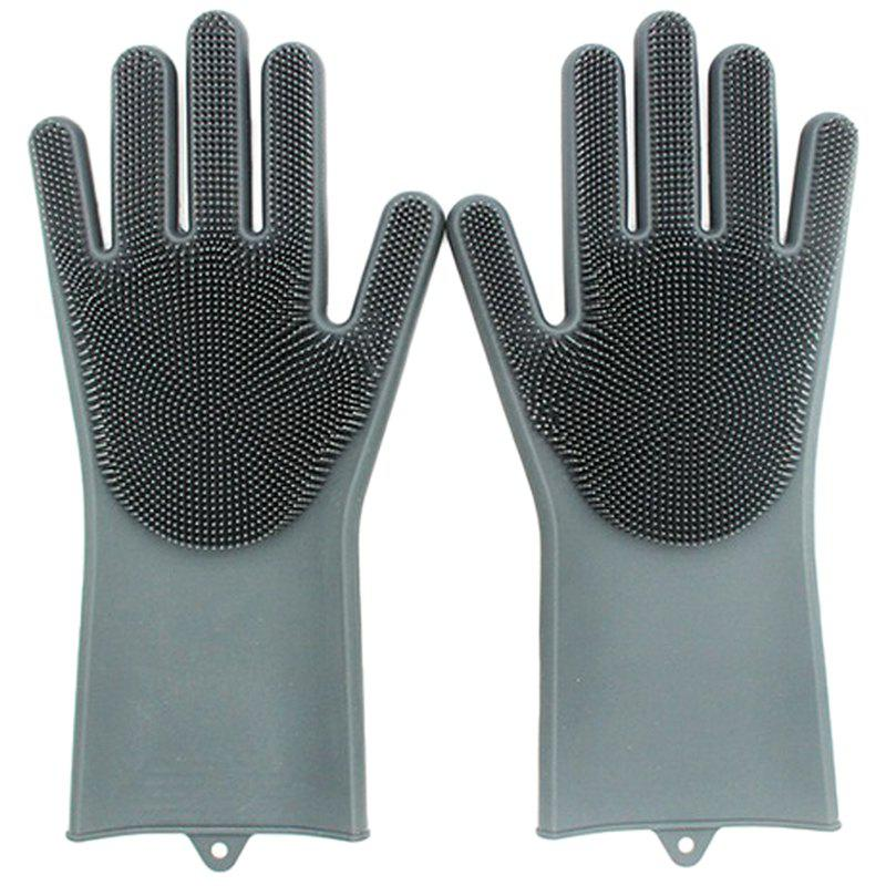 Fancy Multi-function Non-slip Insulation Cleaning Brush Kitchen Durable Gloves