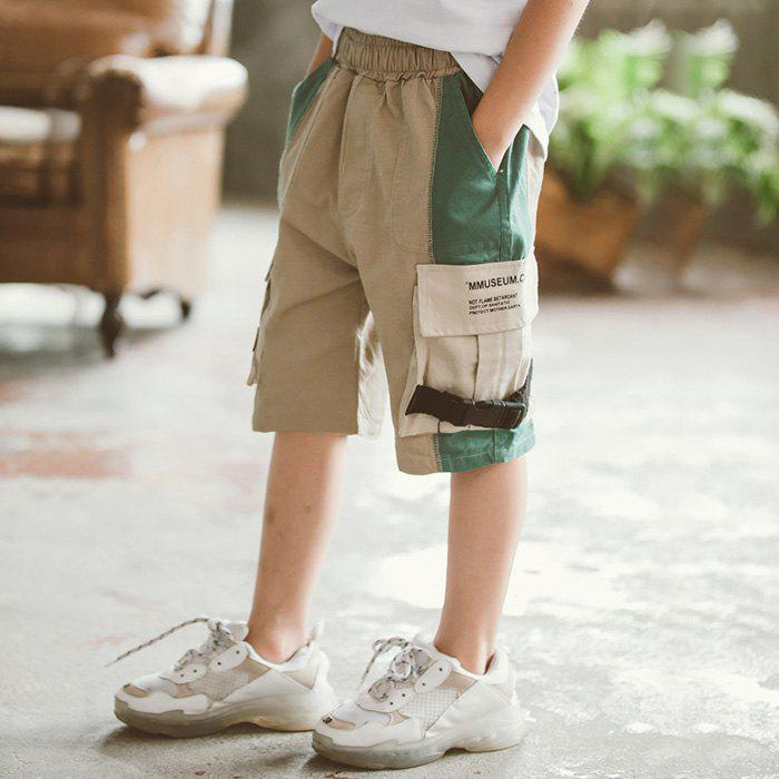 Latest DD1200 Boy Color Stitching Fifth Pants