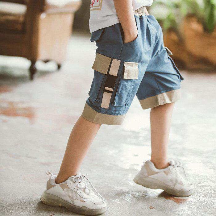 Chic DD1196 Boy Multi-bag Color Matching Casual Five Pants