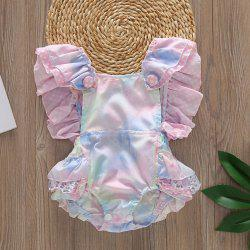 01 Girl Cotton Printed Color Romper -