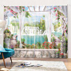 Home Decoration 3D Waterfall Curtain -