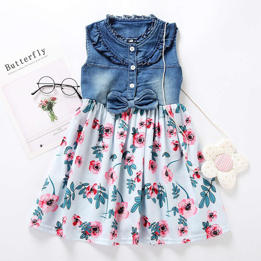 Outfit M0368 Girls Fashion Denim Stitching Dress