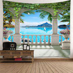 Beautiful 3D Sea View Tapestry Home Decoration -