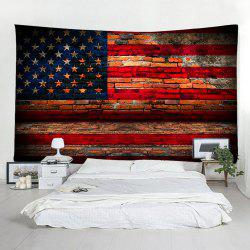 Flakes Brick Wall American Flag Pattern Tapestry -