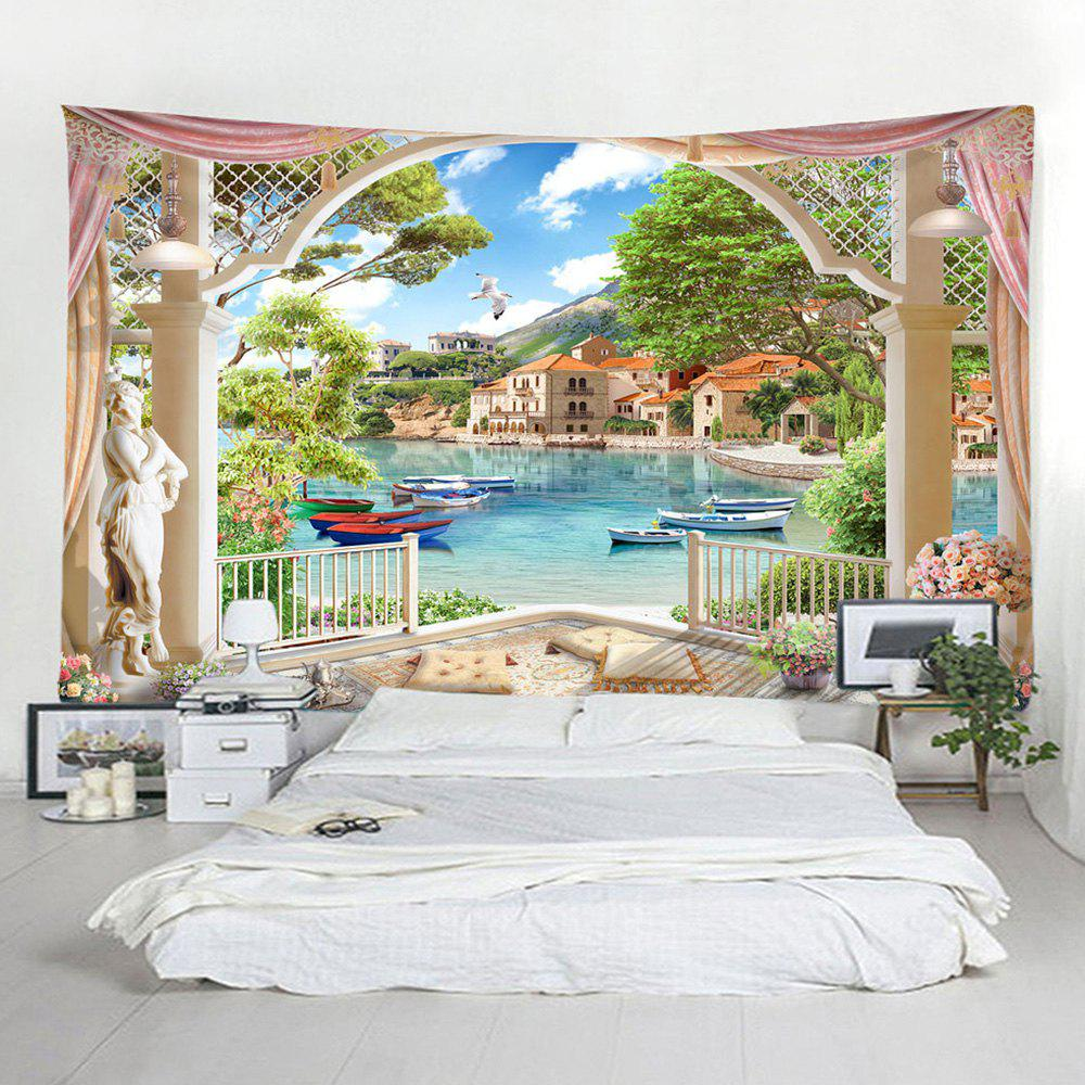Fancy 3D Lake Home Decoration Tapestry