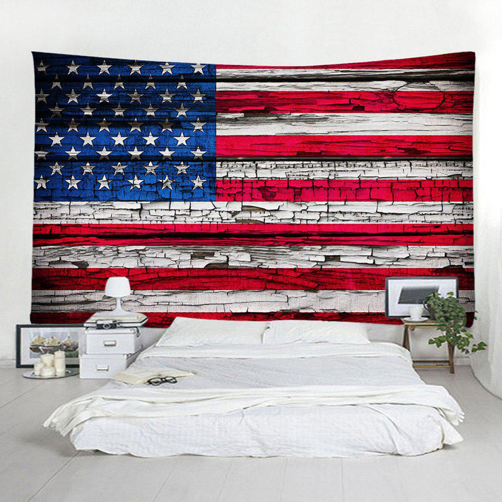 Hot Wood American Flag Pattern Decorative Tapestry