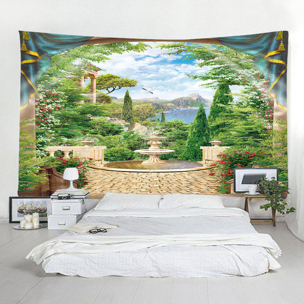 Chic Fashion Window Fountain Tapestry