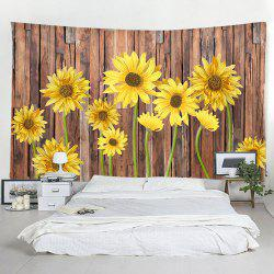 Wooden Board Sunflower Decorative Tapestry -