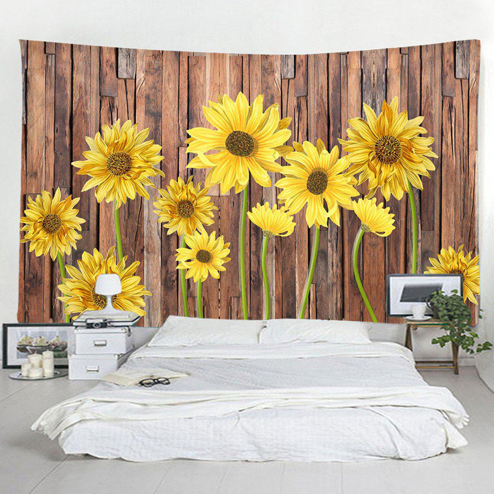 Buy Wooden Board Sunflower Decorative Tapestry