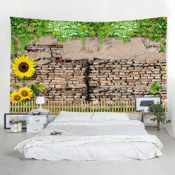 Shedding Brick Wall Home Decoration Sunflower Tapestry -