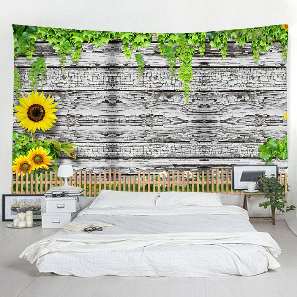 Fashion Shedding Wooden Sunflower Tapestry