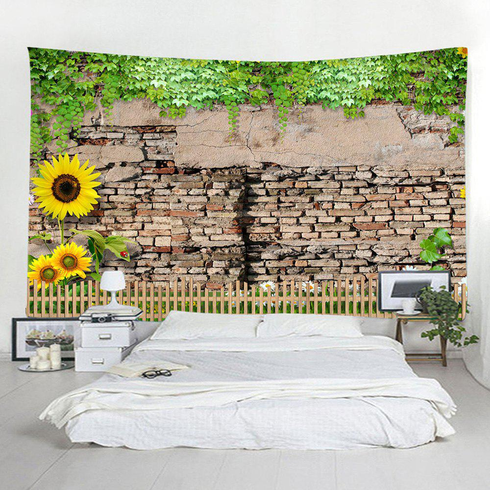 Outfits Shedding Brick Wall Home Decoration Sunflower Tapestry