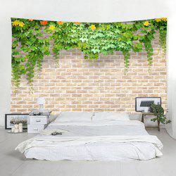 Brick Wall Flowers Home Decor Tapestry -