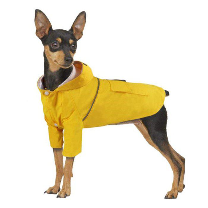 Trendy Summer Dog Double Layer Windproof Hooded Raincoat
