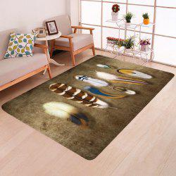 Creative Fashion Feather Bedroom Rug Carpet -