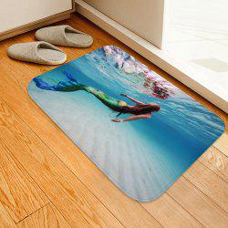 Underwater Mermaid Floor Mat Carpet -