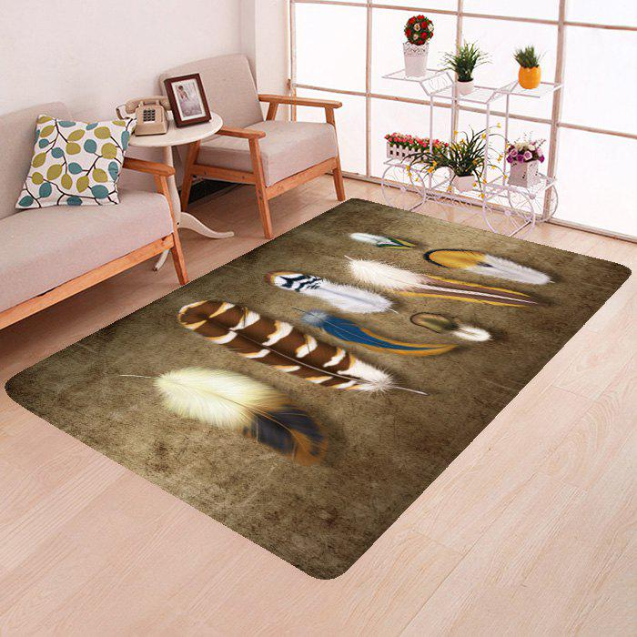 Sale Creative Fashion Feather Bedroom Rug Carpet