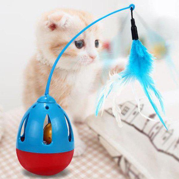 Trendy Tumbler Feathers Funny Cat Pet Toy