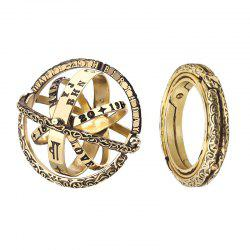 Personality Astronomical Sphere Style Jewelry Flip Deformation Retro Lettering Ring -
