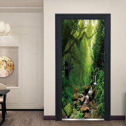 DZMT071 Jungle Fog Creative Home Decoration Wall Sticker 2pcs -
