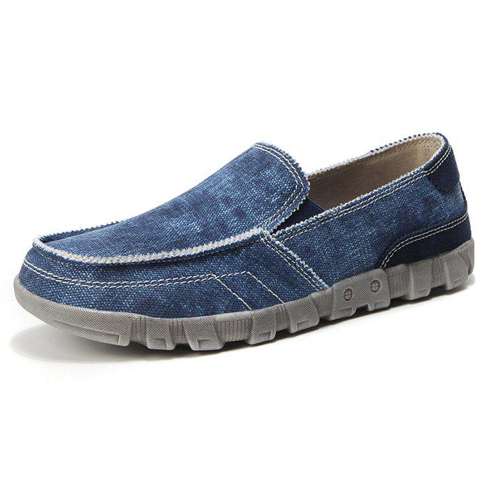 Outfit Men's Large Size Breathable Canvas Shoes Washed Solid Color Comfortable