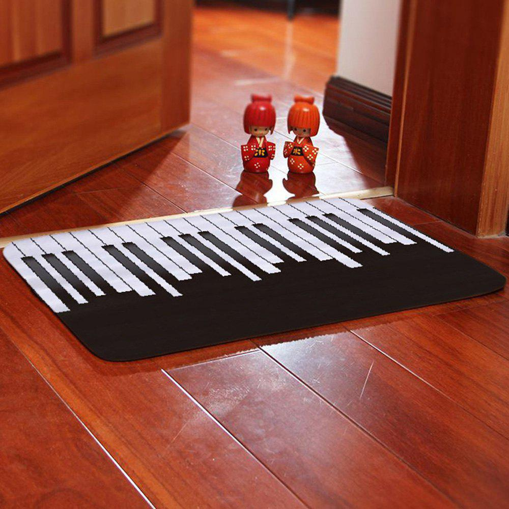 Outfit Creative Simple Piano Black / White Key Printing Carpet
