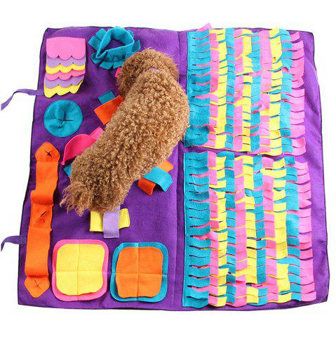 Stitching Section Sniffing Dog Pad Pet Training Blanket