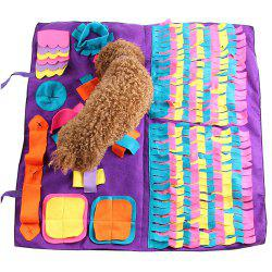 Stitching Section Sniffing Dog Pad Pet Training Blanket -