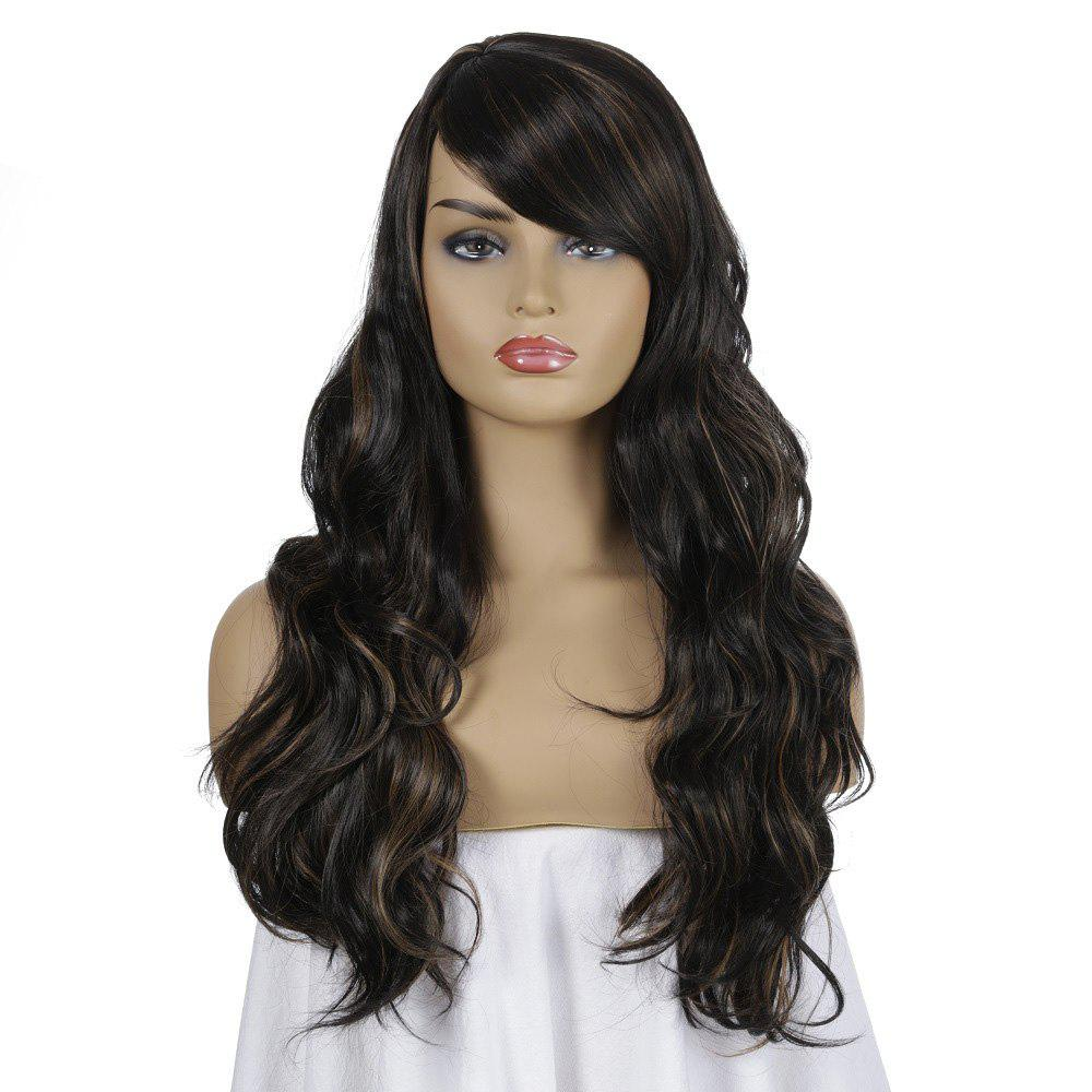 Cheap SYJF 097 Long Curly Wig High Temperature Fiber Hair Wig with Bangs European and American Style