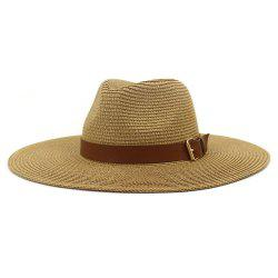 British Style New Spring Summer Large Brimmed Straw Hat Sir Outdoor Travel Tourism Hat -