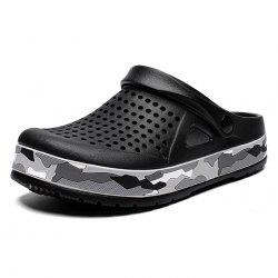 AIALDUN Men's Fashion Personality Camouflage  Nest Tunnel Beach Shoes -