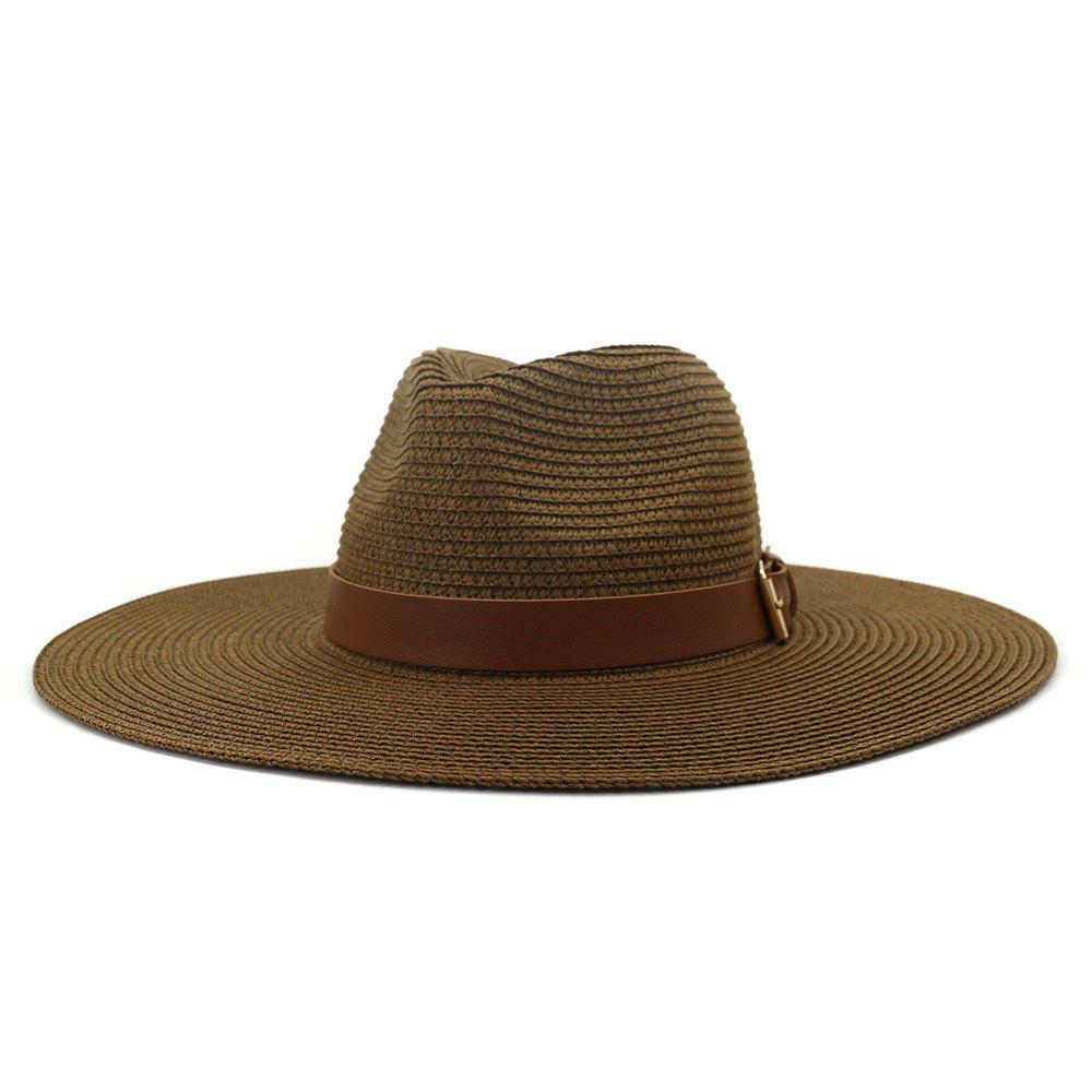 Shop British Style New Spring Summer Large Brimmed Straw Hat Sir Outdoor Travel Tourism Hat
