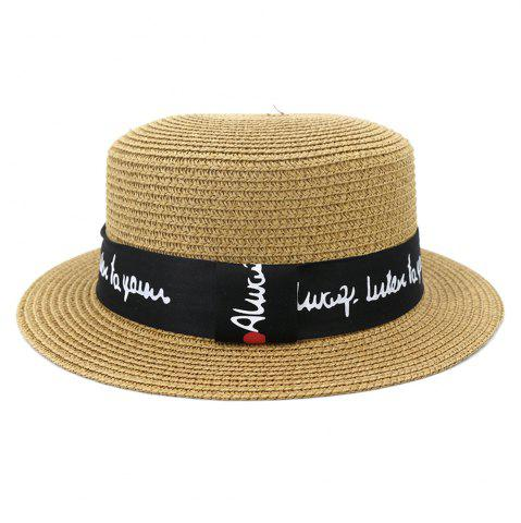 XPD001Holiday Beach Hat Straw Hat Men and Women Flat-topped Sun Hat