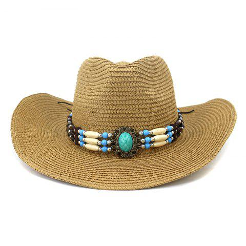 NZCM095 Outdoor Men Women Hat Seaside Beach Sun Cowboy Hat