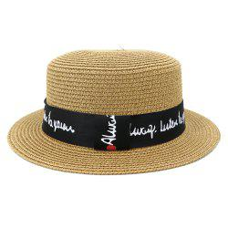 XPD001Holiday Beach Hat Straw Hat Men and Women Flat-topped Sun Hat -