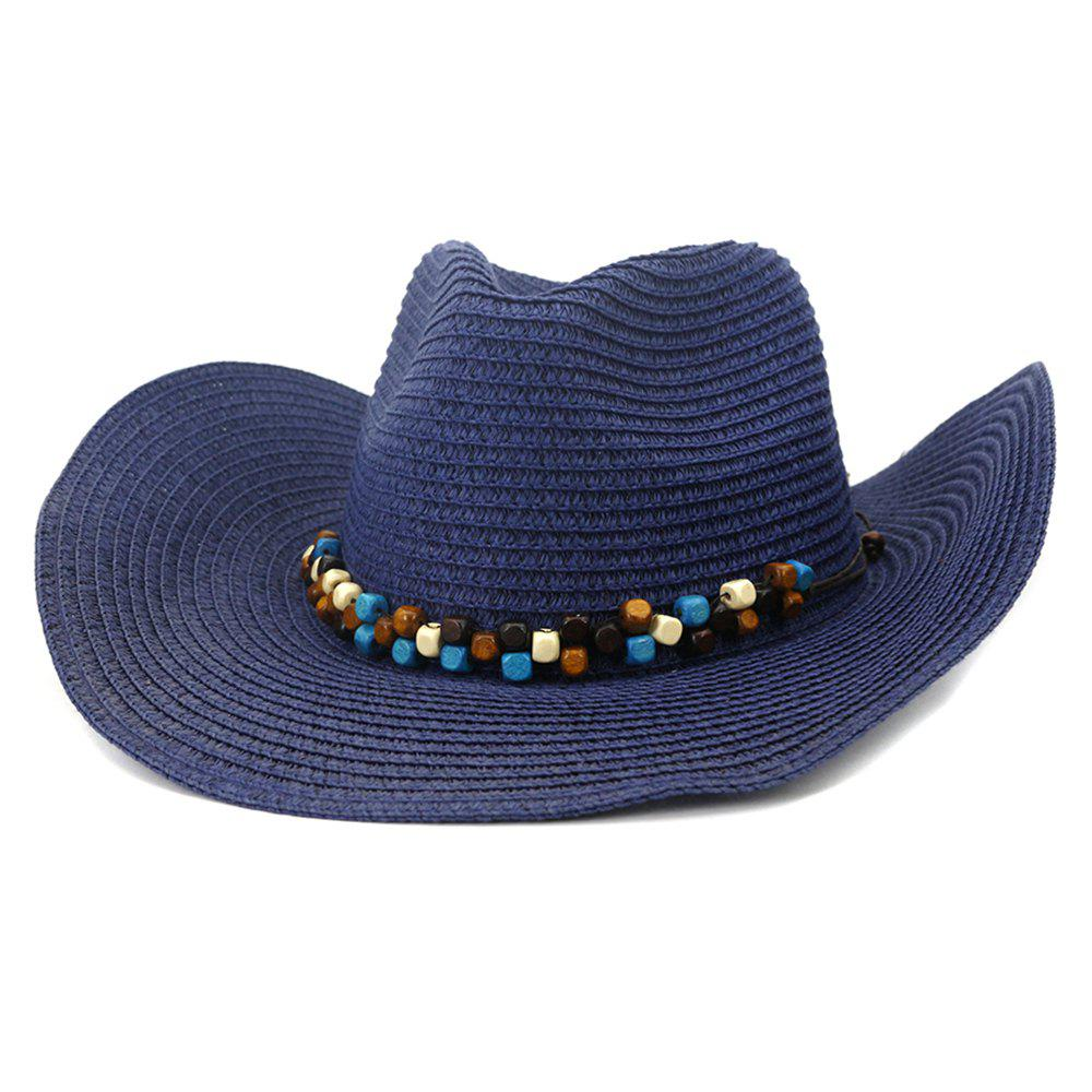 Best NZCM092 Cowboy Hat Seaside Beach Hat Male Outdoor Sun Hat
